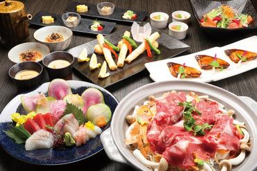 国産牛茸陶板鍋の味覚コース